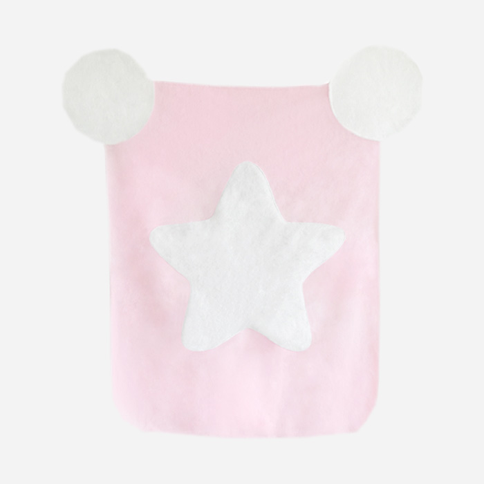 Cotton Candy Blanket - Pink White Star