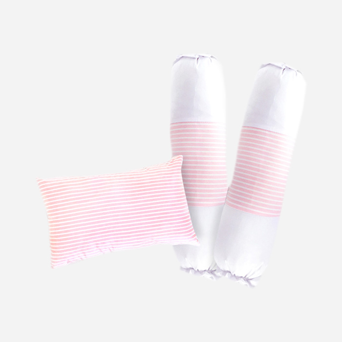 Paket Bantal Guling Basic - Stripe Pink
