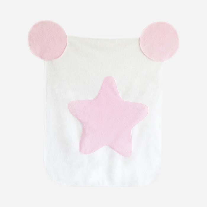 Cotton Candy Blanket - White Pink Star