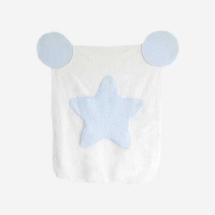 Cotton Candy Blanket - White Blue Star