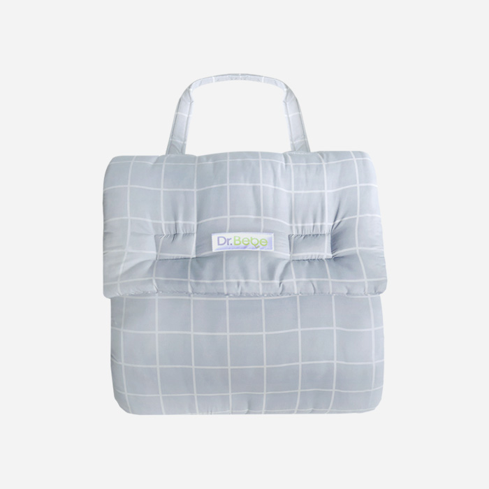 Foldable Bumper Bed - Square Grey